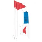 Folding Corner Flags Set