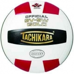 Tachikara SV5W Gold Volleyball - Red/White/Black
